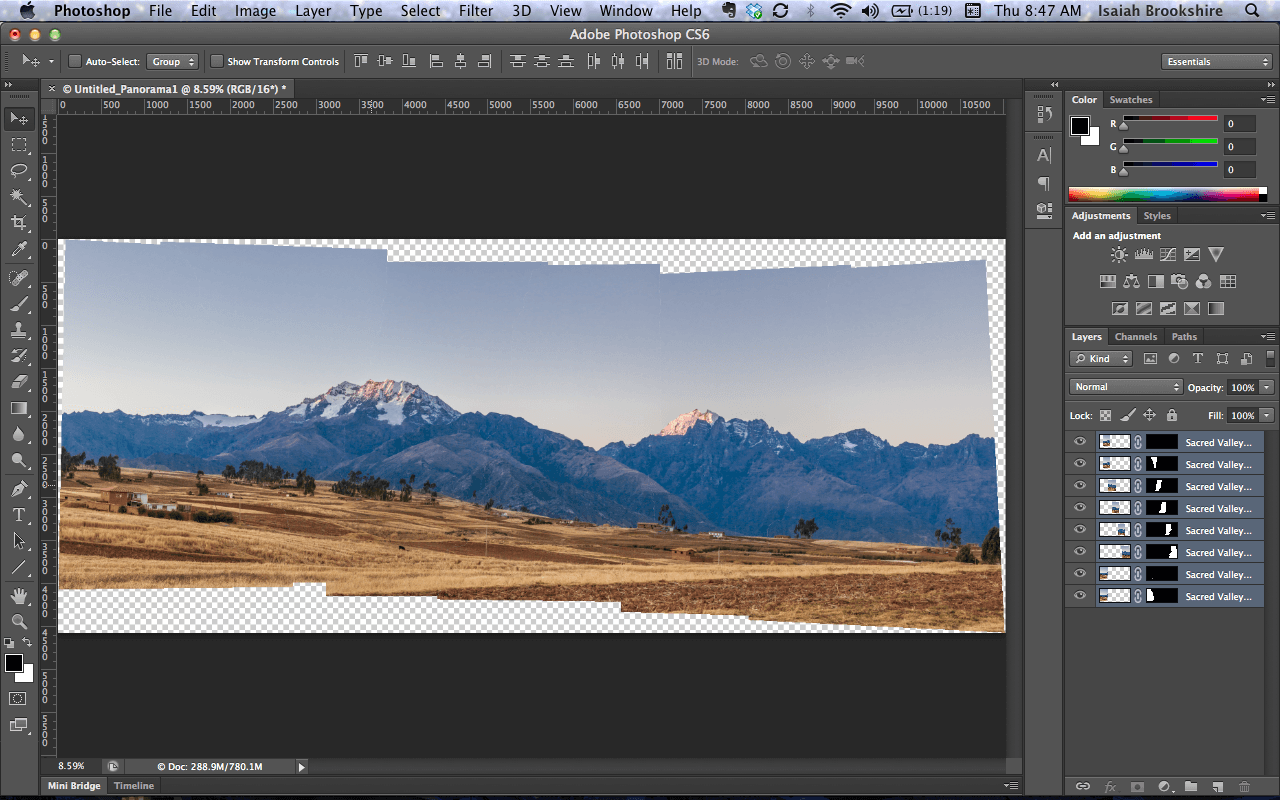 How to make a panorama in Photoshop 86