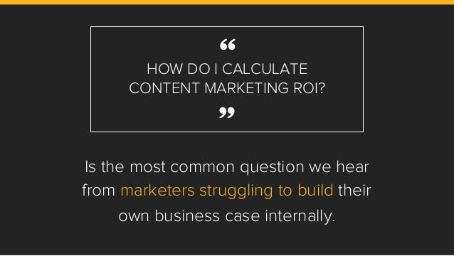 how oto calculate content marketing roi
