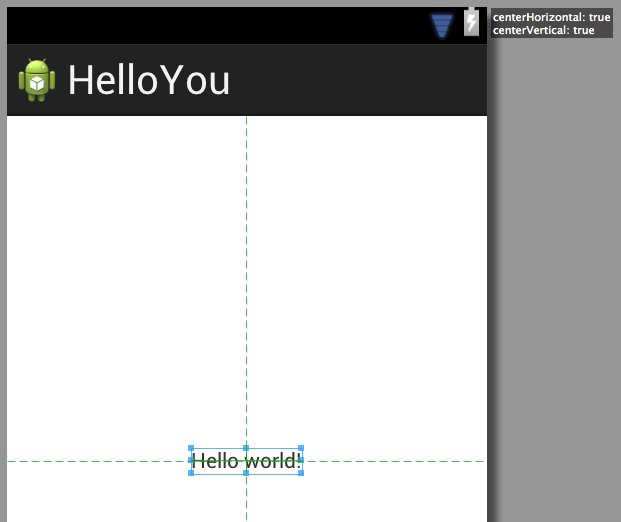 android hello world app