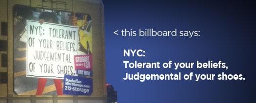 cool nyc billboard