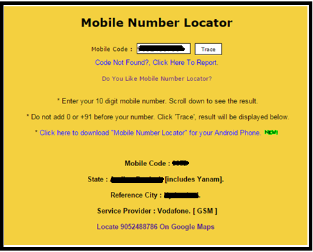 mobile number locator name address software