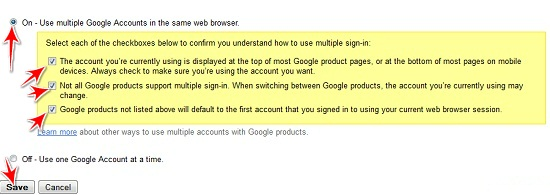 log into multiple gmail accounts