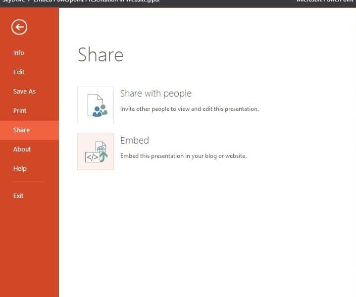 embed powerpoint into blog