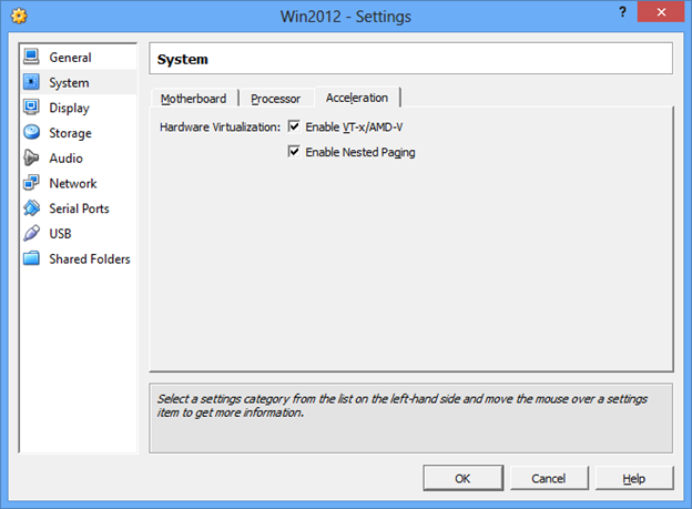 windows server 2012 virtual machine