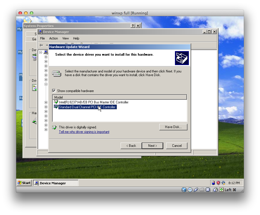install windows xp onto usb