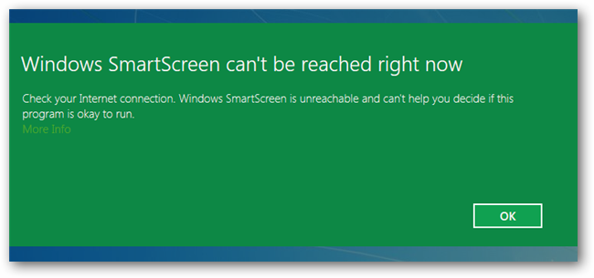 turn off smartscreen filter windows 8